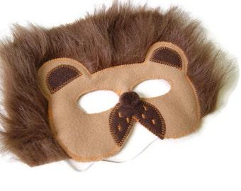 Lion Cat Felt Mask, Animal Mask, Animal Birthday Party Favors, Children's Halloween Costume, Adult Mask