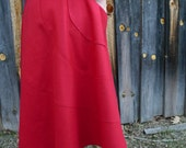 SALE - meerwiibli red raw silk wrap skirt - small in stock