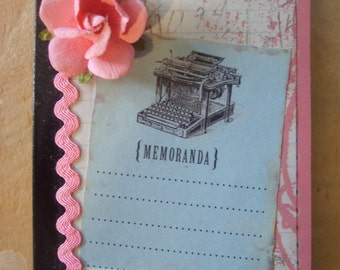 Vintage Inspired Typewriter Altered Composition Book