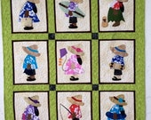 Hawaiian Sunbonnet #2 Quilt Pattern, Original design