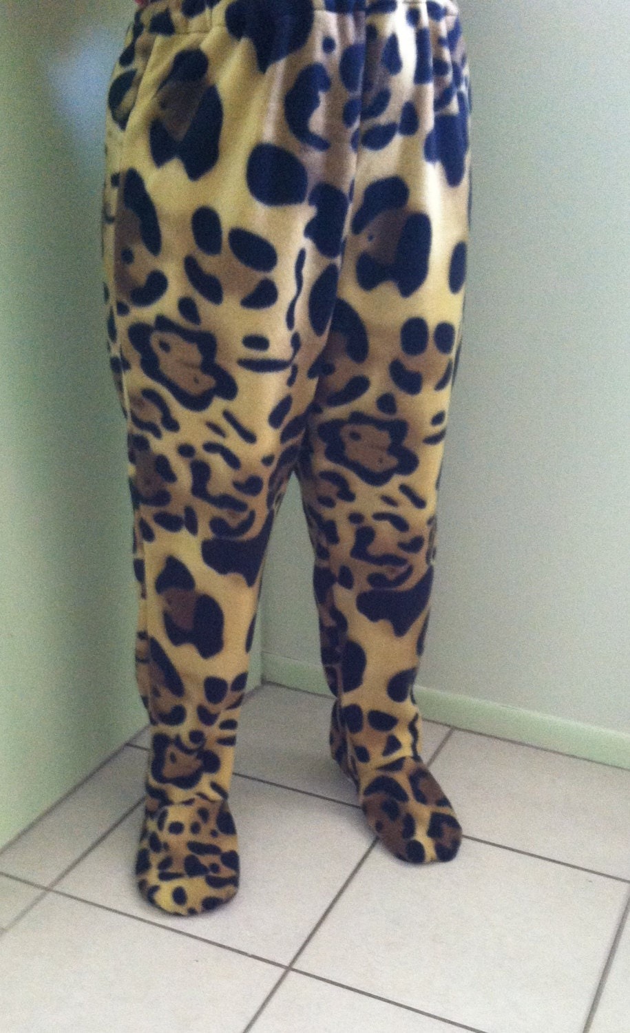 Footed Pajamas Cheetah Spots Adult Hoodie Chenille. by Footed Pajamas. $ $ 44 95 Prime. FREE Shipping on eligible orders. Some sizes are Prime eligible. SEXY ALL-OVER CHEETAH PRINT SHORTS. Ally's Women's Sleepwear Flannel Pajamas .