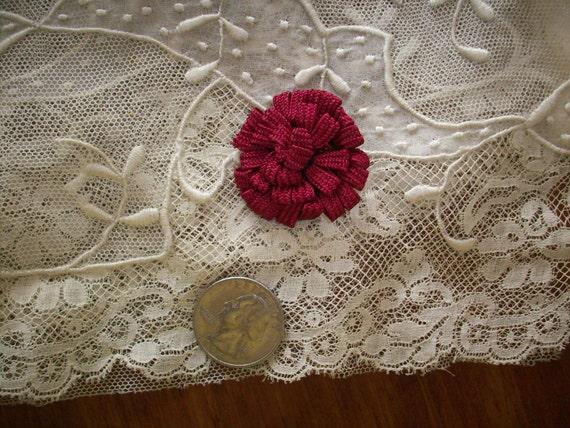 1 Vintage ribbon work trim in cabernet