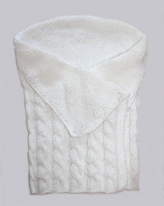 Knitting Pattern Swaddling Blanket : baby KNITTING PATTERN- Swaddle Me Baby Bunting Blanket PDF ...