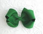 Emerald Green Hair Bow, St. Patrick's Day Hair Bow, Green Hair Bow, Hair Accessories for Girls, Toddler Hair Clips, Christmas Hair Bows