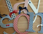 Vintage Style, Baby Boy Nursery,  Wooden Letters, Red and Navy Blue, Cream,  Traditional, Americana, Patriotic, Boys Room