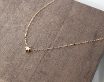 Star Necklace,Gold Star Necklace,Tiny Star Necklace,Gold Necklace,Dainty Necklace, Simple Necklace,Everyday Necklace,Star Jewelry