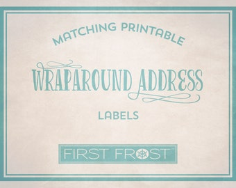 Matching Printable Wraparound Address Labels - Coordinates with Any First Frost Invitation