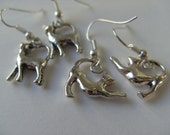 Cat, earrings, Silver plated, choose style,3d,  by NewellsJewels on etsy