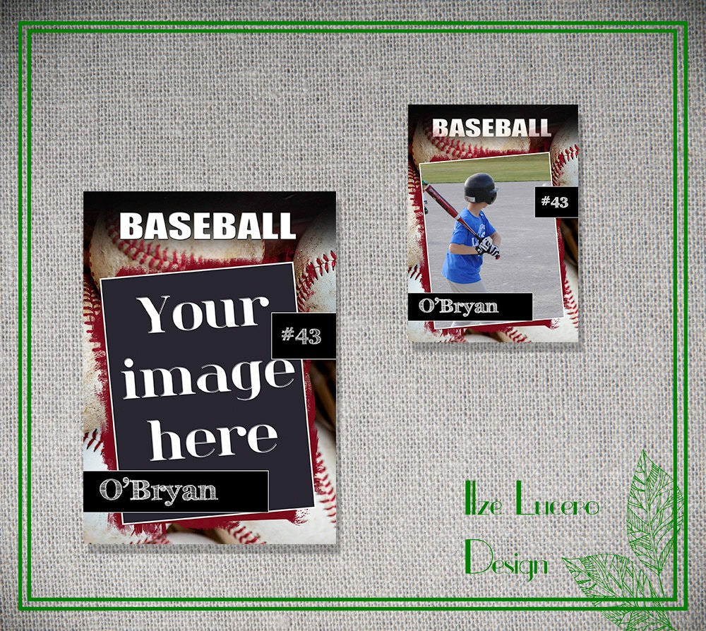 psd baseball trading card template by ilzesdesigns on etsy. Black Bedroom Furniture Sets. Home Design Ideas