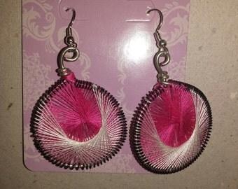 string wrapped earrings