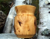 Amazing Knotty Sculpted Paper Birch Wood Container