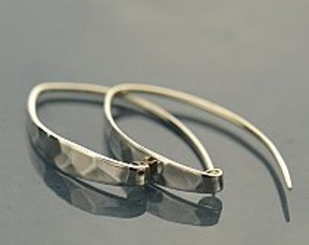 Contemporary Sterling Silver Earrings, Hammered, C2197, Findings