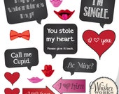 DIY Photo Booth Printables - Valentine's Day Mix