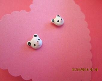 Cute panda bear resin earrings - Panda Bear Earrings - Girls Earrings - Panda Bear jewelry