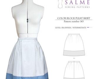 PDF Sewing pattern - Color Block Skirt