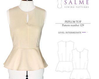 PDF Sewing pattern - Peplum top