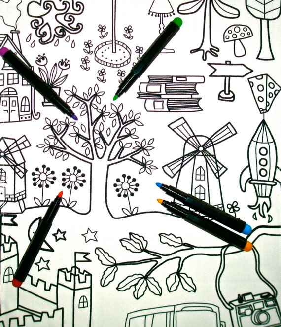 Download Coloring In Table Cloth : Kids Craft Party Favor Children Girl
