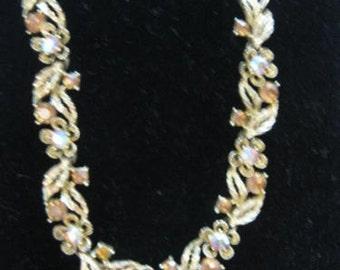 Vintage signed LISNER Rhinestone Necklace