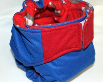 Monkey around blue and red all in one diaper