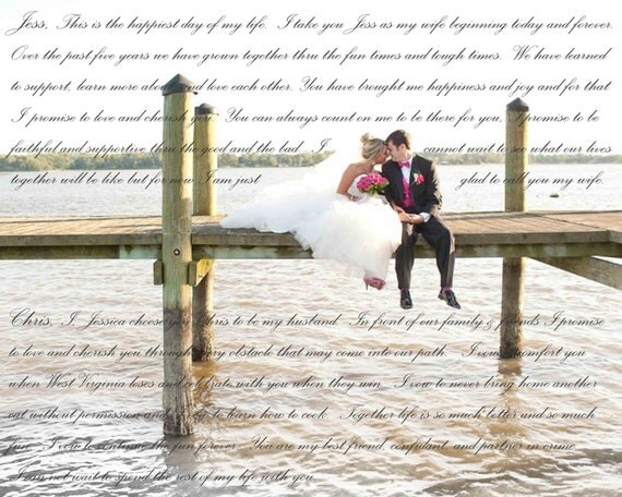 Wedding Vow Gifts: 2nd Anniversary Gift Personalized Wedding Vow Canvas By