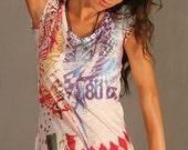 Spring Fashion Vintage Design, geometric women t-shirt colorful woman tank top