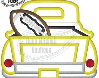 Truck with Football Applique Embroidrey Design