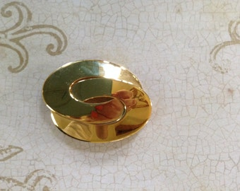 Napier Gold Tone Double Oval Pin/brooch