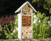 Bee and Insect Hotel, three tier, in 'Muted Clay'. Can be personalised