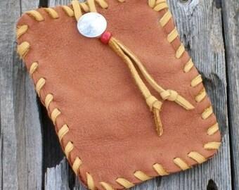 Leather belt bag for your phone Buckskin belt bag Leather phone case