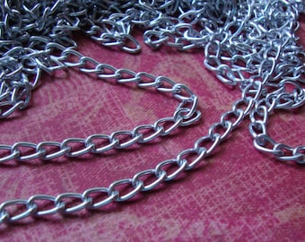 """1 Yard 1/8"""" Silver Color Metal Chain for Necklace Piece Jewelry Tribal Ethnic Summer Embellishment Geometric Necklace S120"""