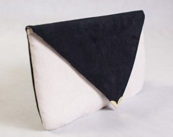 Double colored clutch purse in the Color of Your Choice