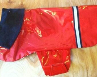 New Red Dog Rain Jacket, Dog Rainjacket, Dog Coat, Dog Jacket, Dog Jackets