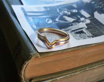 stacking rings / gold / silver / copper / VINTAGE STACKING RINGS