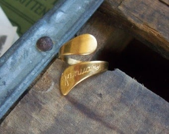 vintage brass ring / vintage ring / vintage brass / BRASS MONTH RING