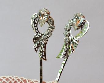 Bridal Bobby Pins, Rhinestone Hair Pins, Diamante Slides, Vintage Bobby Pins, Rhinestone Bobby Pins, Wedding Headpiece, Bridal Headpiece