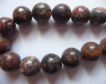 Bead, Leopardskin, Jasper, Gemstone  Natural, 10mm, Round, B Grade, Mohs hardness 6 to 7, Pkg Of 12