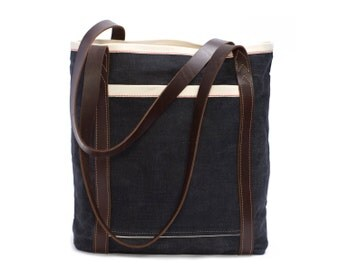 The Rhoads Bag : Waxed Denim