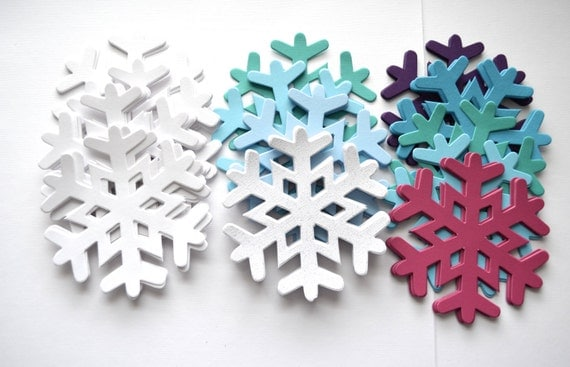 Frozen Snowflake Sets, 30 pieces