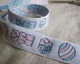 BABY bears, BALL and Block jacquard woven ribbon