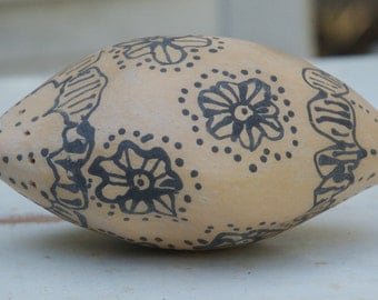 Decorated Stoneware Gourd