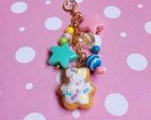 Yummy Cookie Cell Phone Dust Plug Charm Keychain