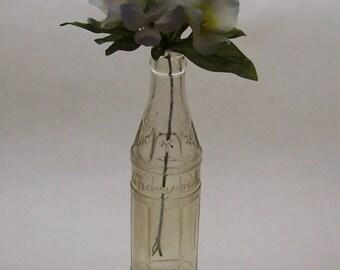 Vintage Soda Bottle, Shamrock 8 Oz, Cameron TX, Coca Cola Bottling, Farmhouse Decor, Rustic Home Decor