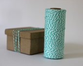 Aqua & White Bakers Twine - 10 metres - Perfect for Gift Wrapping or Crafts