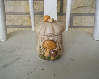 Tiny Vintage Mushroom Canister