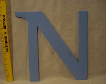 Vintage Stylish Reclaimed Metal Store Sign Letter N