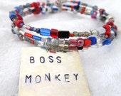Beast Wars Optimus Primal memory wire bracelet