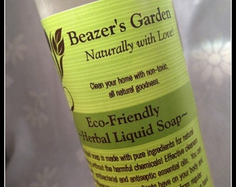All-Purpose Liquid Soap- Organic Home Cleaning Products- Natural Dish soap- Cleaning Soap- Everyday is Earthday!