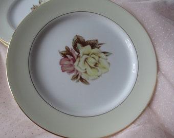 Vintage Narumi China Yellow Rose Occupied Japan Salad Plates Set of Four