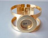 Vintage lucite gold tone Marcel Boucher bracelet watch
