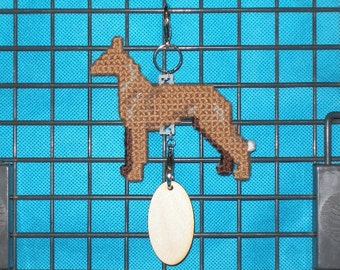 Pharaoh Hound crate tag - dog kennel charm or hang anywhere hand stitched original art, Magnet option